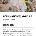NTS Radio『BODY MOTION W/KIKI KUDO』(LONDON UK)